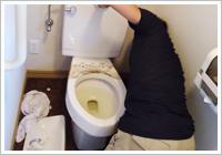 トイレの取り外し