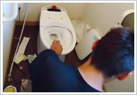 新しいトイレの設置