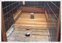 和式トイレの床を解体